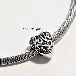 European Love Heart Charm Bead Pendant